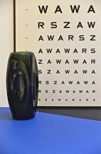 Vase en verre annees 60 Onyx slavia vintage