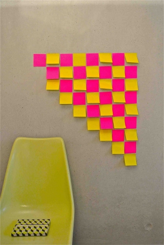 Slavia vintage déco mur de post-it