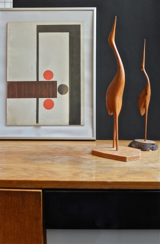 figurine en bois des années 60 Volavka slavia vintage