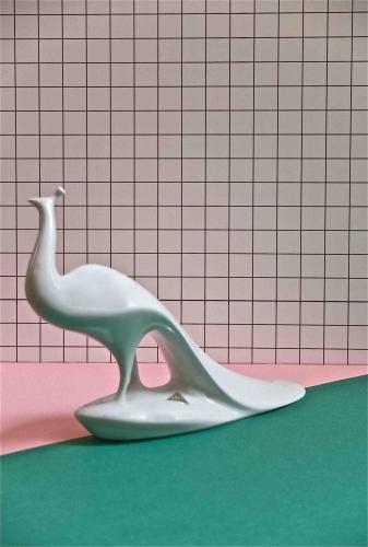 """porcelaine tchecoslovaque des annees 60 """"Peacok"""" slavia vintage"""