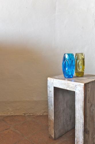 """vase en verre tchecoslovaque annees 60 Slavia Vintage """"Ambre"""""""