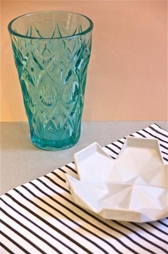 Vase en verre Tourmaline Slavia vintage