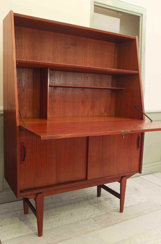 slavia vintage mobilier vintage secr taire en teck de style scandinave des ann es 60 rotterdam. Black Bedroom Furniture Sets. Home Design Ideas