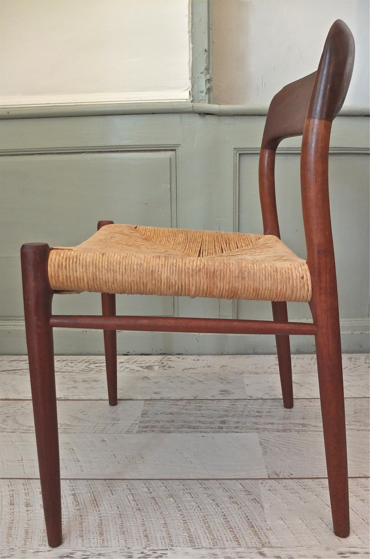 chaise danoise type modele 71 de niels o moller sonderborg slavia - Chaise Danoise