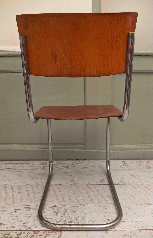 slavia vintage mobilier vintage chaise thonet s43 mart stam. Black Bedroom Furniture Sets. Home Design Ideas