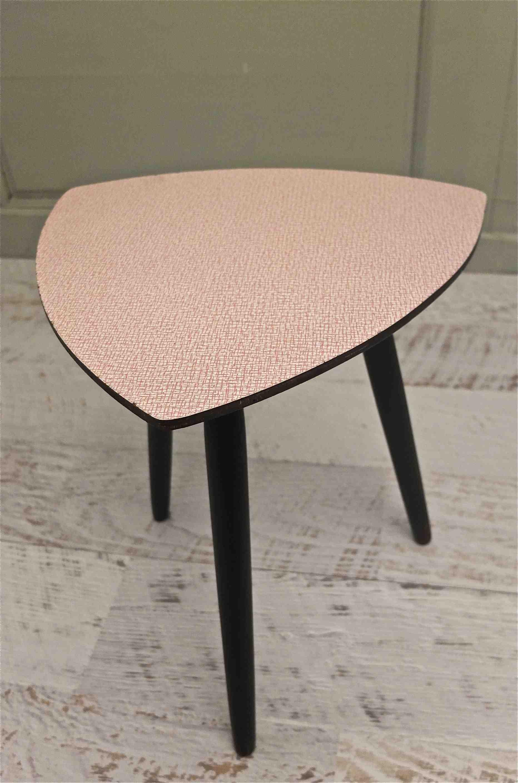 Slavia vintage mobilier vintage petite table tripode des ann es 50 - Table tripode annees 50 ...