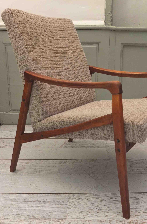 slavia vintage mobilier vintage fauteuil de style scandinave des ann es 60 nyborg. Black Bedroom Furniture Sets. Home Design Ideas